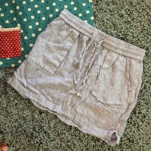 Old Navy Linen Striped Skirt